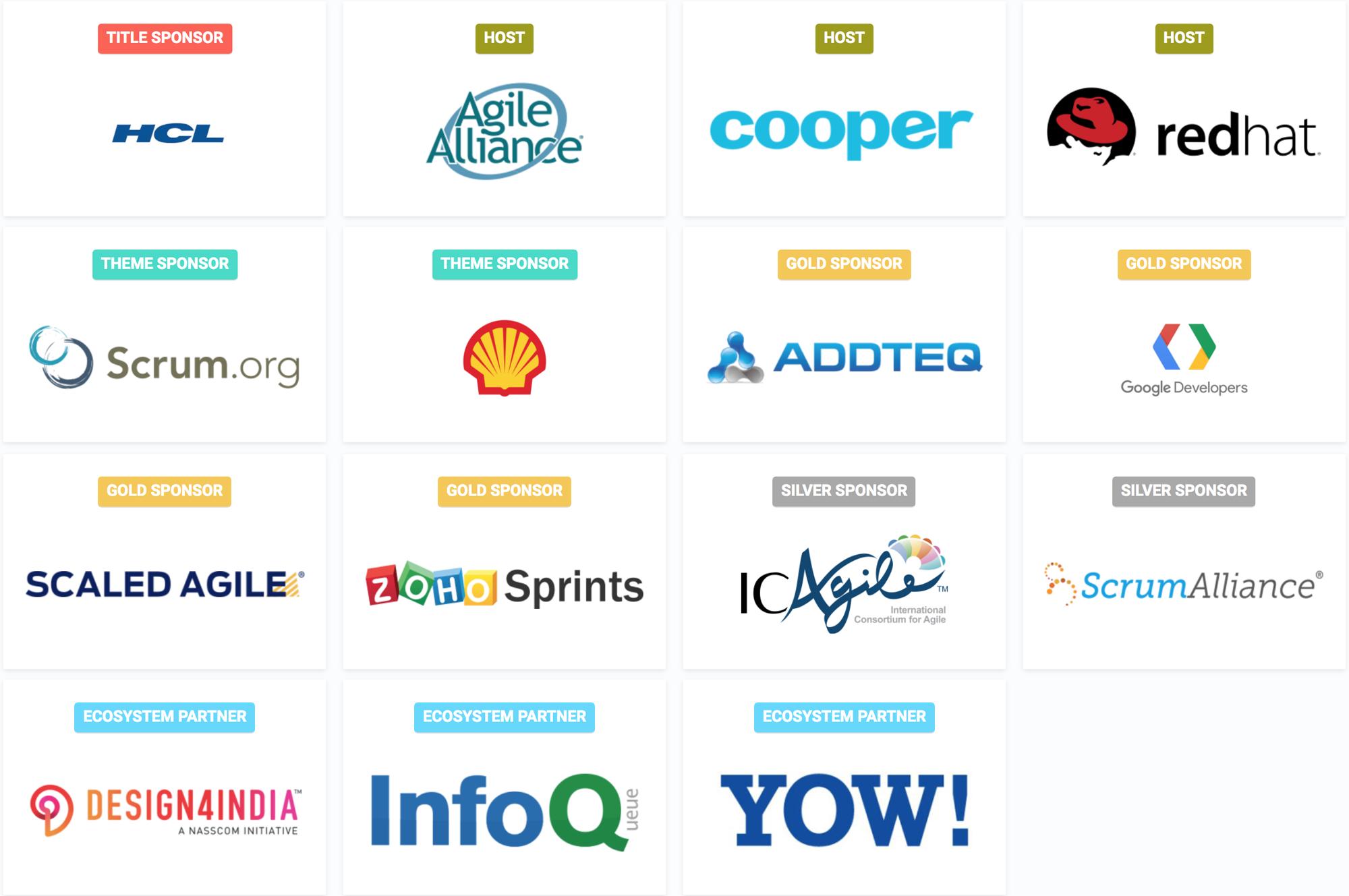 Agile India 2018 Sponsors
